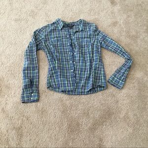 Abercrombie & Fitch snap button ruffle on mid hem